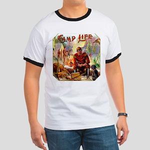Camp Life Cigar Label Ringer T