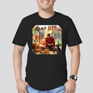 Camp Life Cigar Label Men's Fitted T-Shirt (dark)