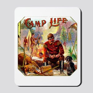 Camp Life Cigar Label Mousepad