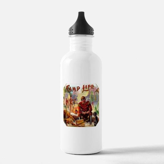 Camp Life Cigar Label Water Bottle