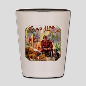Camp Life Cigar Label Shot Glass