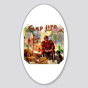 Camp Life Cigar Label Sticker (Oval)
