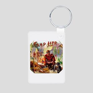 Camp Life Cigar Label Aluminum Photo Keychain