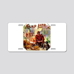 Camp Life Cigar Label Aluminum License Plate