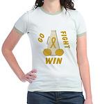 Gold WIN Ribbon Jr. Ringer T-Shirt