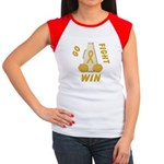 Gold WIN Ribbon Women's Cap Sleeve T-Shirt