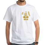 Gold WIN Ribbon White T-Shirt