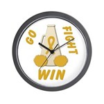 Gold WIN Ribbon Wall Clock