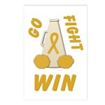 Gold WIN Ribbon Postcards (Package of 8)
