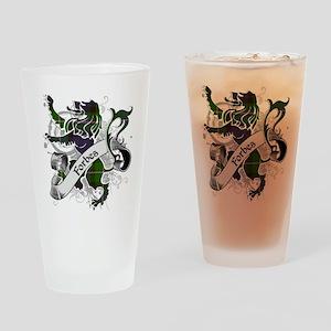 Forbes Tartan Lion Drinking Glass