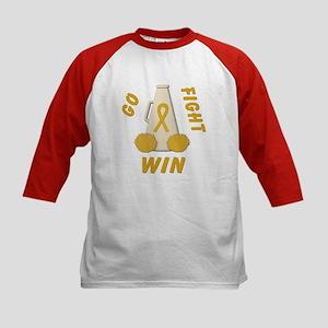 Gold WIN Ribbon Kids Baseball Jersey