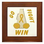 Gold WIN Ribbon Framed Tile