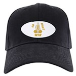 Gold WIN Ribbon Black Cap