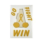 Gold WIN Ribbon Rectangle Magnet (100 pack)