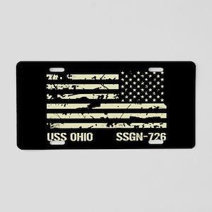USS Ohio Aluminum License Plate