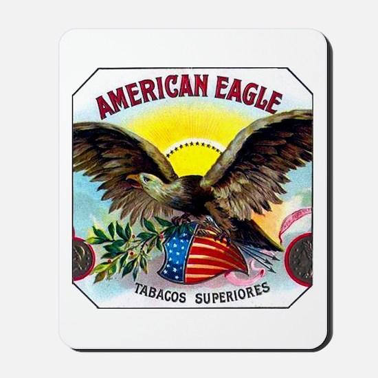 American Eagle Cigar Label Mousepad