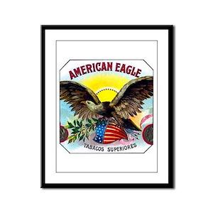 American Eagle Cigar Label Framed Panel Print