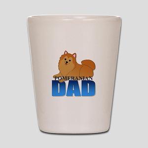 Orange Pomeranian Dad Shot Glass