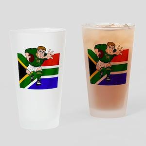 Springboks Rugby Forward Drinking Glass