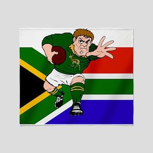 Springboks Rugby Forward Throw Blanket