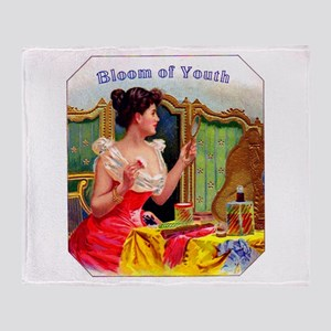 Bloom of Youth Cigar Label Throw Blanket