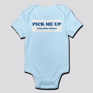 Pick Me Up - Blue Infant Creeper