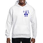 Blue WIN Ribbon Hooded Sweatshirt