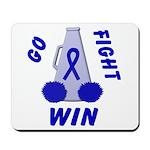 Blue WIN Ribbon Mousepad