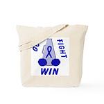 Blue WIN Ribbon Tote Bag