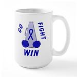 Blue WIN Ribbon Large Mug