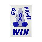 Blue WIN Ribbon Rectangle Magnet (100 pack)