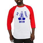 Blue WIN Ribbon Baseball Jersey