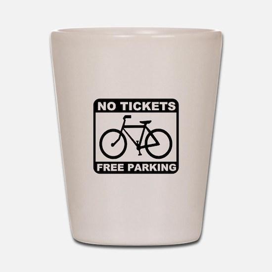 Bike No Tickets Shot Glass