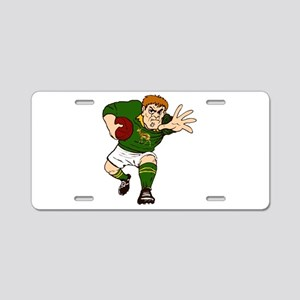 Springboks Rugby Player Aluminum License Plate