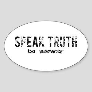 Speak Truth Oval Sticker