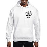 Black WIN Ribbon Hooded Sweatshirt