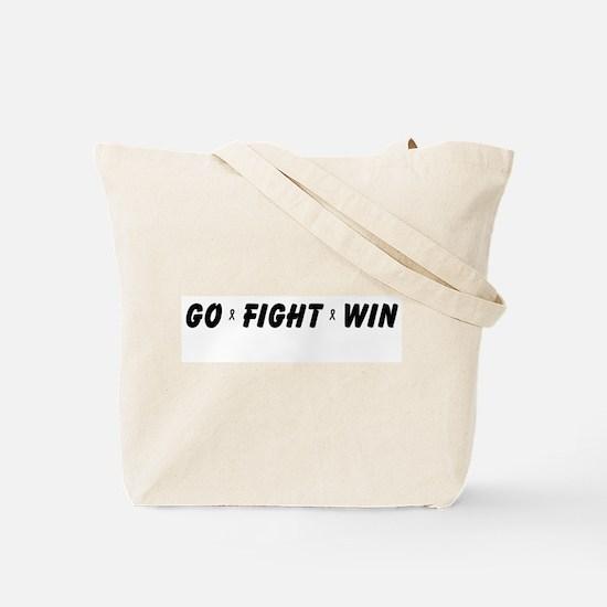 Black WIN Ribbon Tote Bag