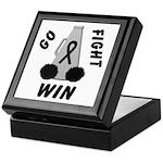 Black WIN Ribbon Keepsake Box