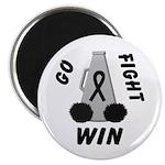 Black WIN Ribbon Magnet