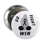 Black WIN Ribbon Button