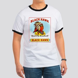 Black Hawk Chief Cigar Label Ringer T
