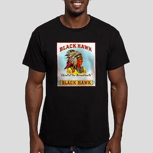 Black Hawk Chief Cigar Label Men's Fitted T-Shirt