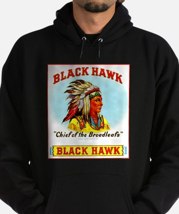 Black Hawk Chief Cigar Label Hoodie (dark)