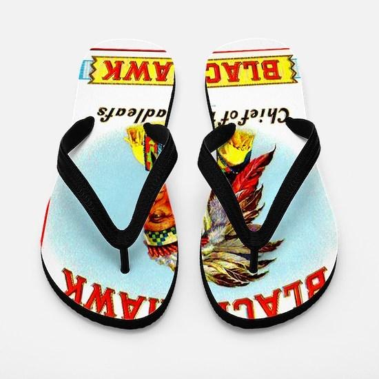 Black Hawk Chief Cigar Label Flip Flops