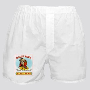 Black Hawk Chief Cigar Label Boxer Shorts