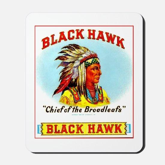 Black Hawk Chief Cigar Label Mousepad