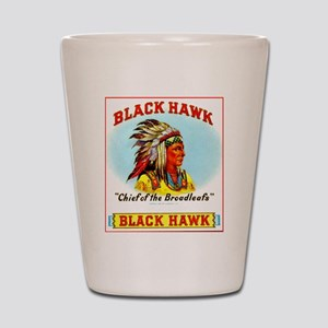 Black Hawk Chief Cigar Label Shot Glass