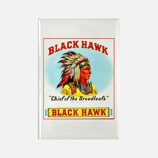 Black Hawk Chief Cigar Label Rectangle Magnet