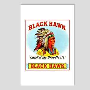 Black Hawk Chief Cigar Label Postcards (Package of
