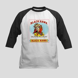 Black Hawk Chief Cigar Label Kids Baseball Jersey